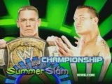 John Cena vs Randy Orton story before Summerslam 2007