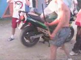 Le mans 2007 flam 750 gsxf  1100 gsxr rupture wheel