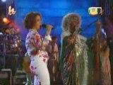 Gloria Estefan y Celia  Cruz-Tres gotas de agua bendita
