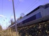 18.03.2008 Un TGV de Besançon pour Paris de passage à Dole