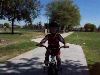 Isaac Riding His Bike