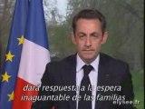 Message de Nicolas Sarkozy au chef des Farc