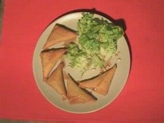 Samossa aux legumes (cuisine vegetarienne)