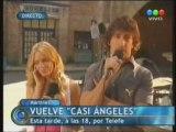 Emilia Attias & Nico Vazquez En Telefe Noticias