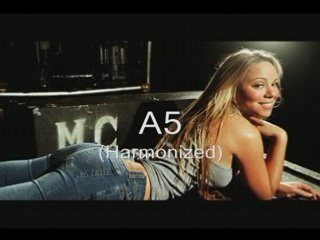 A showcase of Mariah Carey's range: A2-F7 (STUDIO)