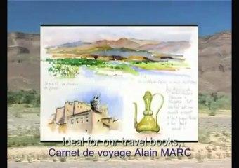 Aquarelle  dans la vallée du Drâa, au Maroc