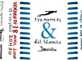 Syd Matters & Kit Thomas en concert