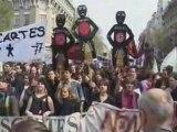 NPA dans les manifestations lycéens et sans papiers