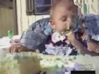 Tired Baby Loves Cake