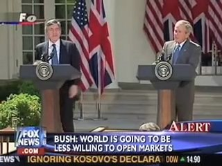 gordon brown on bush