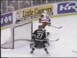 NHL - hockey - goals, hits, saves, fights