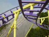 BAT COASTER  montagne russe looping  roller coaster