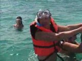 ballade en bateau avec vue sur les ruines de tulum avec mimi