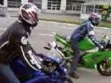 Honda cbr 600 leo vince et zx6r 636 micron