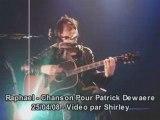 Raphael chanson pour patrick dewaere live bruxelles