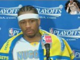 NBA Allen Iverson after his Nuggets came up short