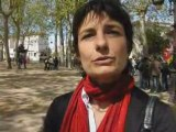 Agen: manifestation du 1er Mai 08 / Interview enseignante