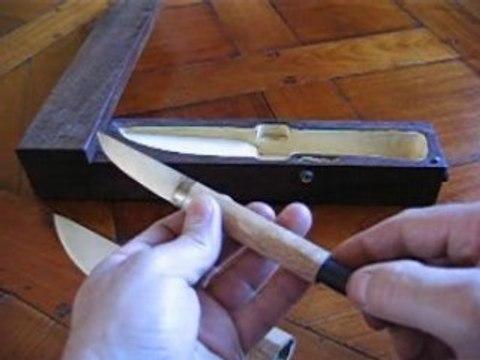 Coutellerie d'art - couteau a lame et manche creux
