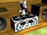 """Souris 3D """" Quand le chat n'est pas la ..."""""""