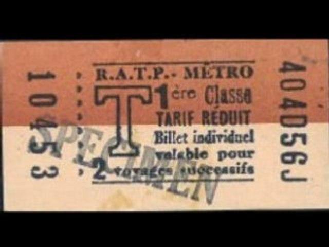 histoire en images du ticket de métro parisien