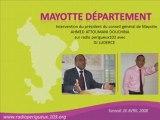 Qui est pour départementalisation de Mayotte ?