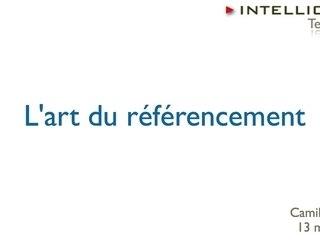 Search Engine Optimization - L'art du référencement web