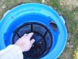 Filtre enterré pour récupération d'eau de pluie
