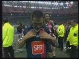 PSG - OM Finale coupe de France 2006 - Remise Trophée