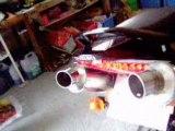 sv 650 avec 2 pots laser x trem