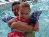 Première baignade à la piscine municipale...enfin !