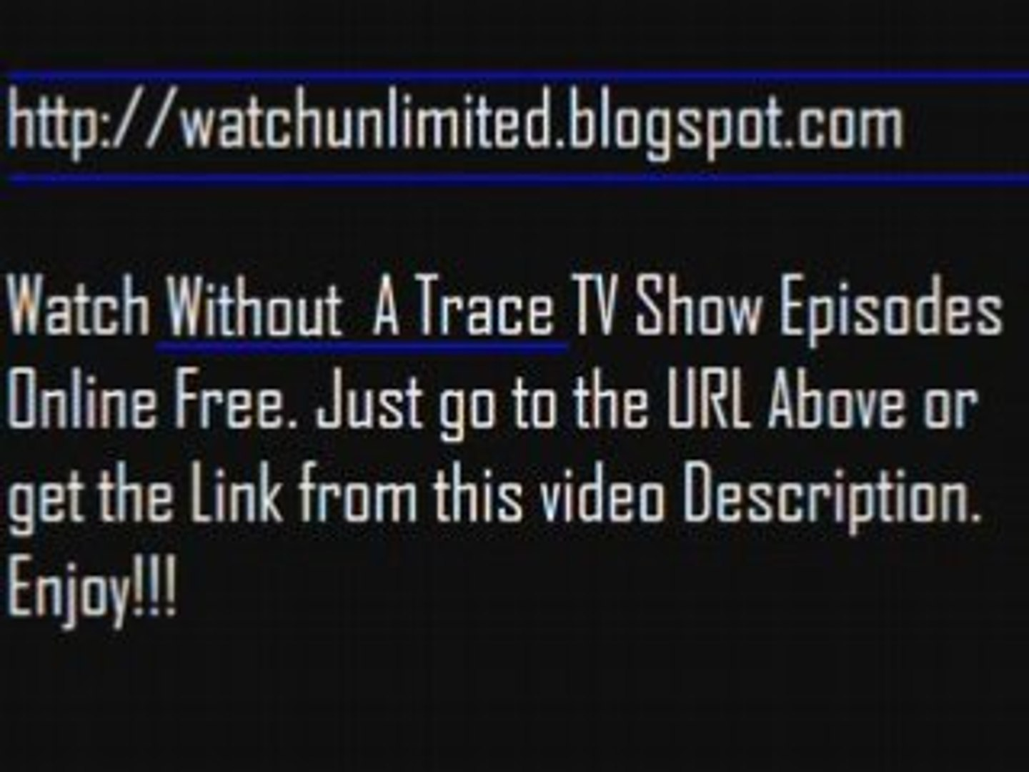 watch without a trace online free