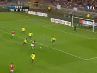 video match France vs Equateur : video 1er  buts Gomis
