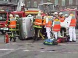 simulation de pompier 2eme partie le 14 juillet 2009 saverne