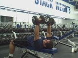 Timed Dumbbell Bench Presses For 3 Minutes