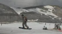 Ski jump & Snowboard sur le glacier de Tignes