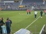 France paraguay avant le match arrivée des joueurs