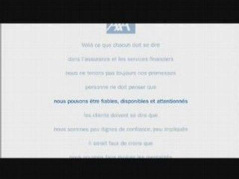 Publicité Axa : réinventons notre métier