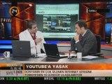 Atif Unaldi @ Haber 24 TV .. Youtube'un kapatılması 3/3