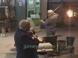 Italy travel: Venice's Murano Glass Factory Vase demo