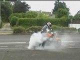 burn moto énorme
