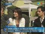 Romina Gaetani & Joaquin Furriel en Telefe Noticias