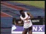 Ancien record du monde du 100 metre Usain Bolt  9.72