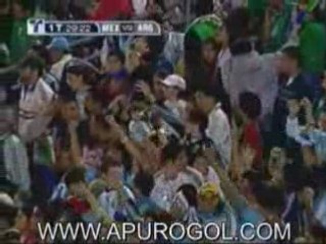 Argentina 4 Mexico 1 Goles Burdisso Messi Rodriguez Aguero Z