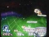 Super Smash Bros Melee : Falco VS Team 3 CPU lvl 9