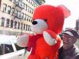 Giant BigPlush.com Stuffed 54-inch Orange Stuffed Teddy Bear