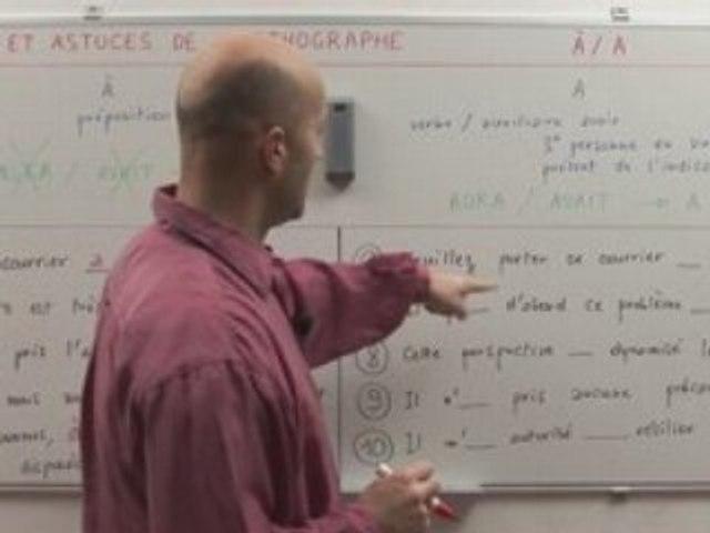 "Orthographe : ""à"" ou ""a"""