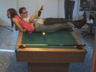 Venom's and Marine, pool trick shots video 40