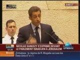 Video Discours Sarkozy au parlement israelien 2 - sioniste,