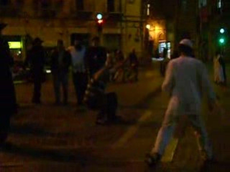 religious guys dancing on kikar zion