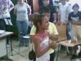 niños gitanos en la escuela flamenco